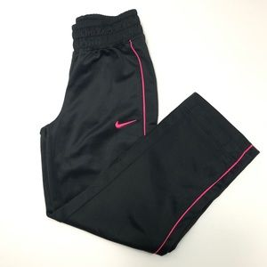 NIKE Girl's Black and Pink Joggers Size 5